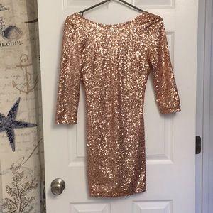 Stunning gold sequin dress